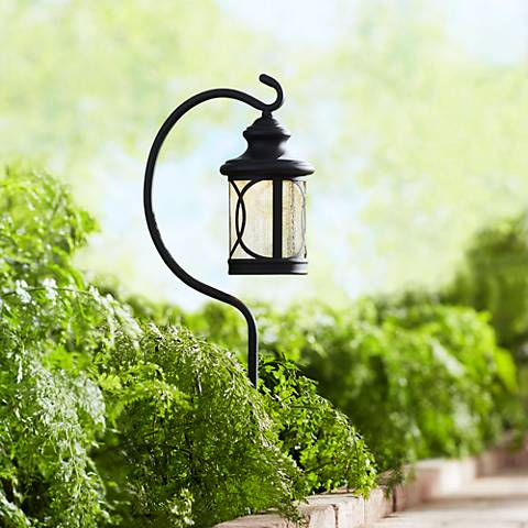 "Capistrano 23"" High LED Black Shepherd's Crook Path Light"