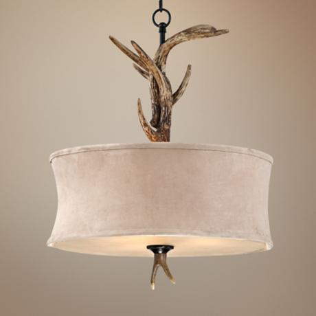 "Faux Antler 20"" Wide 3-Light Pendant Light"