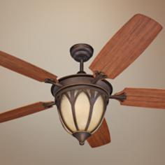 "54"" Monte Carlo Grand Isle Outdoor Ceiling Fan with Light"