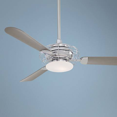 "52"" Acero Polished Nickel Ceiling Fan"
