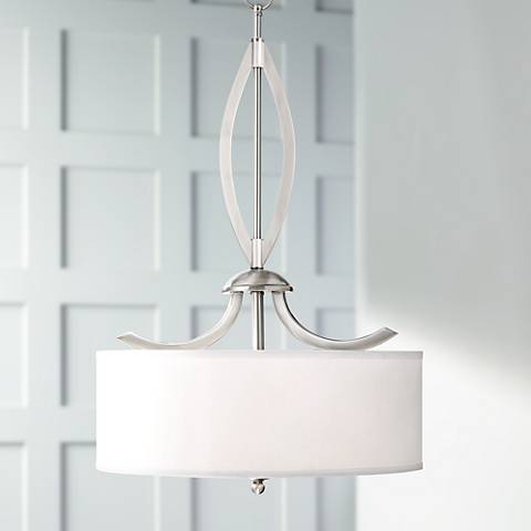 "Possini Euro Azle 20"" Wide Brushed Nickel Pendant Light"