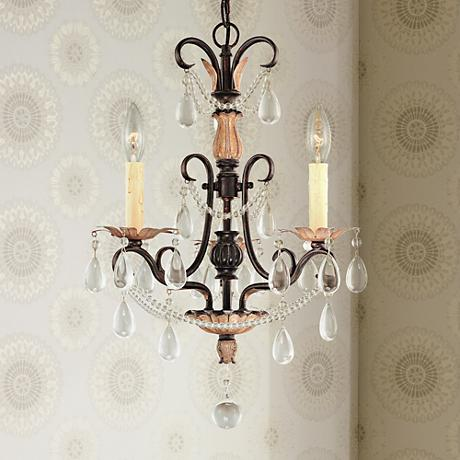 "Tiapo Palace 15 1/2"" Wide 3-Light Mini Chandelier"