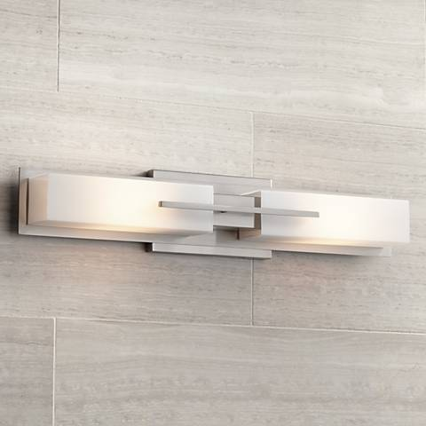 "Possini Euro Collection Midtown 23 1/2""-W Satin Bath Light"