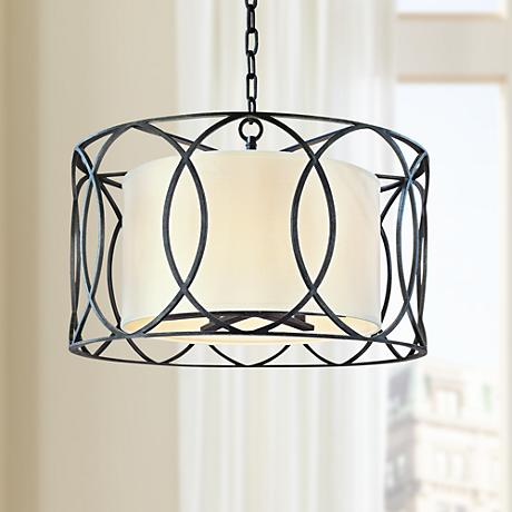 sausalito 25 wide deep bronze pendant light u0159. Black Bedroom Furniture Sets. Home Design Ideas