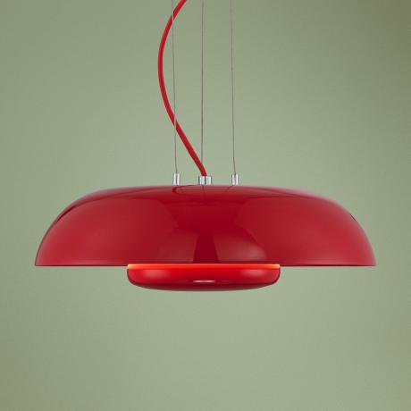 "Possini Euro Design Red Downlight 15 3/4"" Wide Pendant Light"
