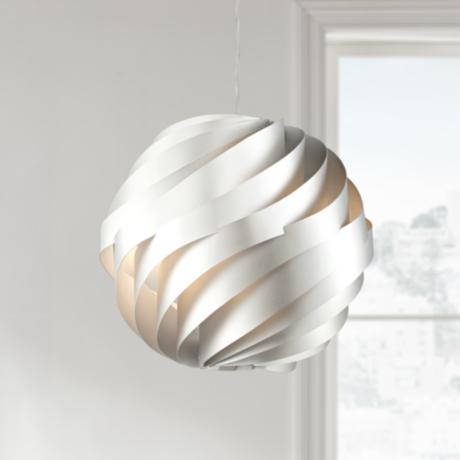 "Possini Euro Design Silver Waves 13 3/4"" Wide Pendant Light"