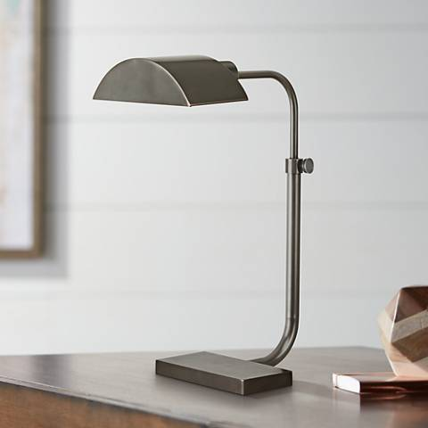 Robert Abbey Koleman Patina Bronze Desk Lamp