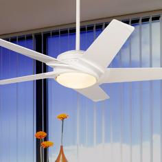 "54"" Casablanca Stealth™ DC Motor White Ceiling Fan"