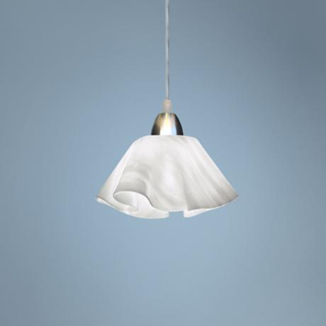 Jezebel Radiance™ Lily White Cloud Glass Pendant Light