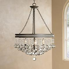 "Regina Olive Gray 19"" Wide Crystal Chandelier"