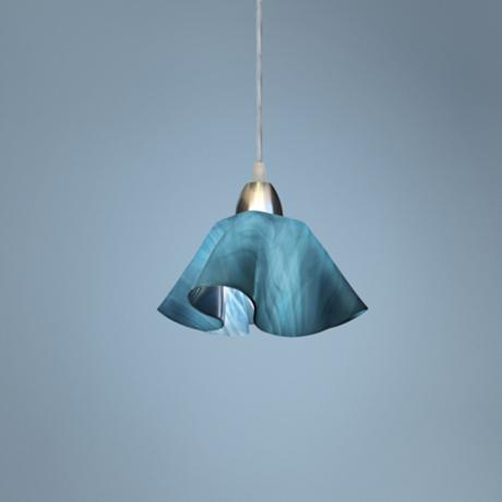 Jezebel Radiance™ Lily Light Teal Sky Blue Pendant Light