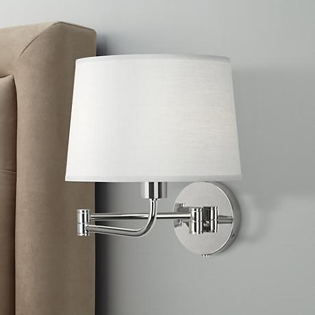 Robert Abbey Koleman Polished Nickel Plug-In Swing Arm Lamp