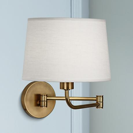 Robert Abbey Koleman Brass Plug-In Swing Arm Wall Lamp