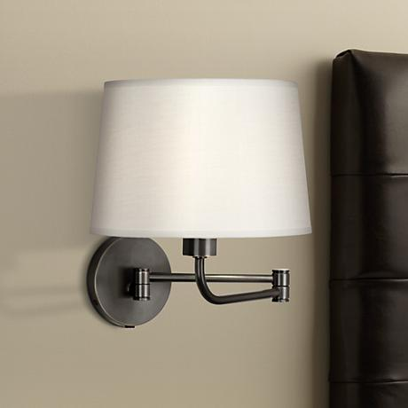 Robert Abbey Koleman Bronze Finish Plug-In Swing Arm Lamp
