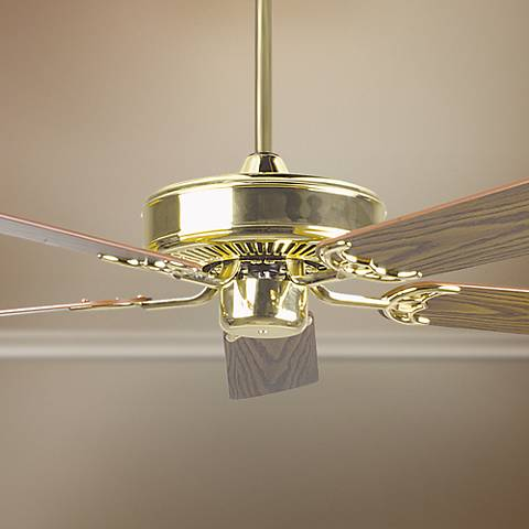 "52"" Concord California Home Polished Brass Ceiling Fan"