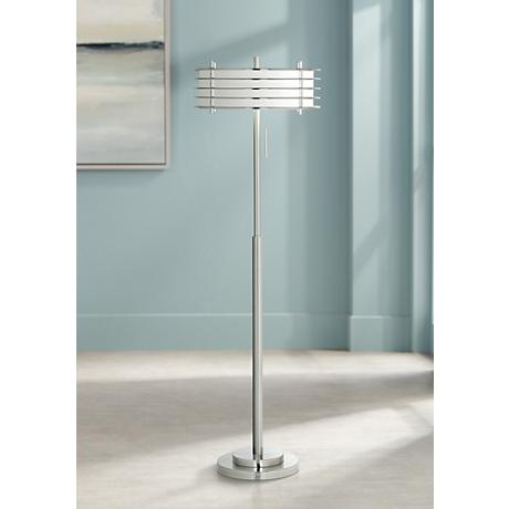 Possini Euro Design Retro Light Blaster® Floor Lamp