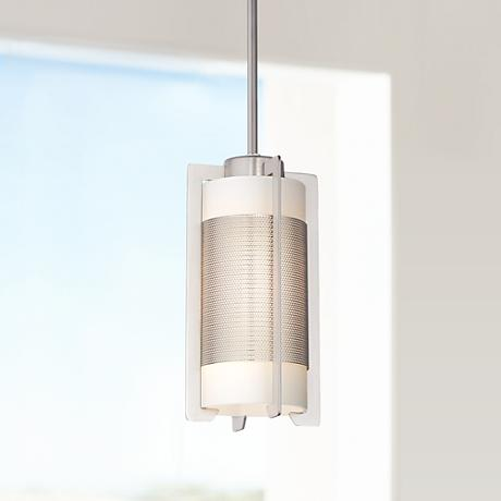 Iron Brushed Steel Bracket Mini Pendant Light