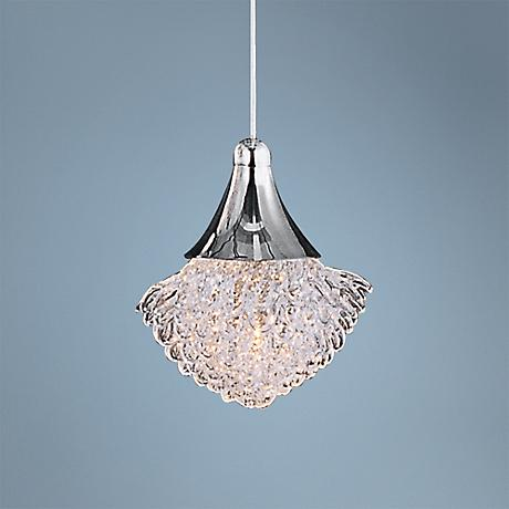 "ET2 Blossom 5"" Wide Clear Crystal Pendant Light"