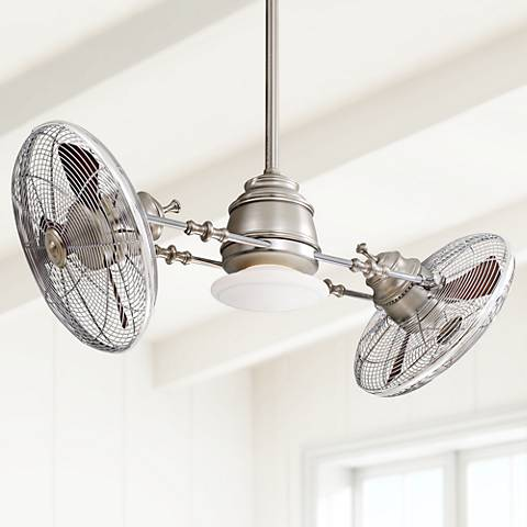 Minka Aire Vintage Gyro Brushed Nickel Chrome Ceiling Fan - #U3018 ...