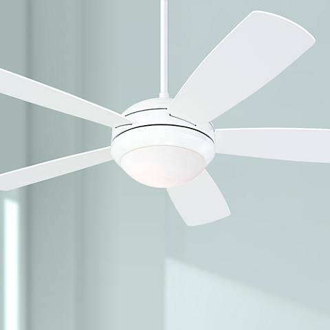 "52"" Monte Carlo Discus White Ceiling Fan"