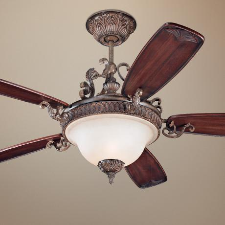 "60""  Monte Carlo Coventry Castle Ceiling Fan with Light"