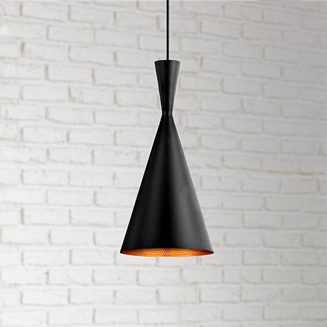 "Bronx 7 1/2"" Wide Black Pendant Light"
