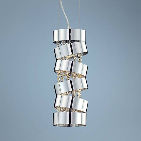 "Ariella 5 1/2"" Wide Chrome Mini Pendant"