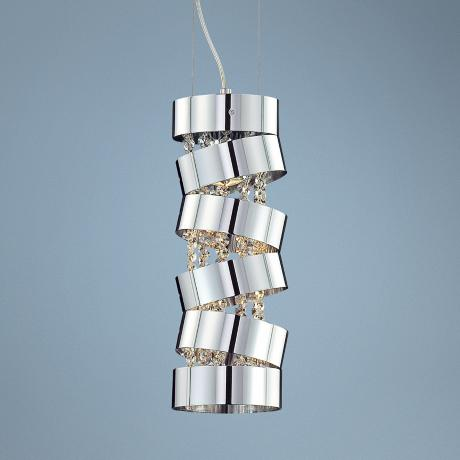 "Ariella 16 1/2"" High Chrome Pendant Light"