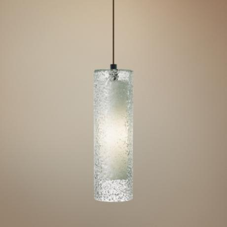 "LBL Rock Candy Clear Glass 4 3/4"" Wide Pendant Light"