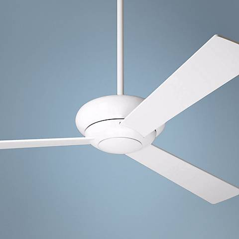 "52"" Modern Fan Altus Gloss White Ceiling Fan"