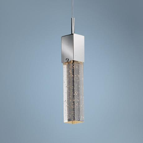 "ET2 Fizz Collection 4 3/4"" Wide Chrome Pendant Light"