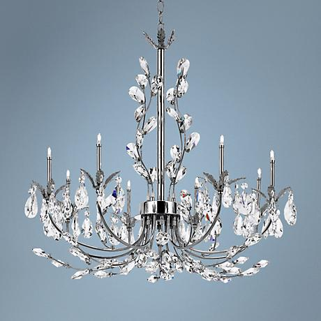 "Eurofase Giselle 25 1/4"" Wide Chrome Crystal Chandelier"