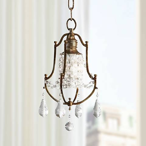 "Feiss Valentina 7 1/2"" Wide Oxidized Bronze Mini Chandelier"