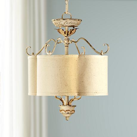 "Quorum Salento 4-Light 18"" Wide Persian White Chandelier"