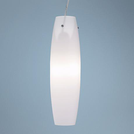 "Serena 5 3/4"" Wide Chrome and Glass Pendant Light"
