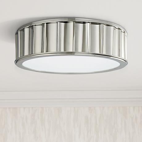 Hudson Valley Middlebury Nickel Flushmount Ceiling Light