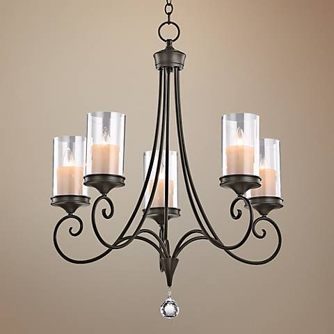 "Kichler Lara Shadow Bronze 26 3/4"" Wide 5-Light Chandelier"