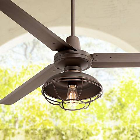 "60"" Turbina Franklin Park  Bronze Damp Ceiling Fan"