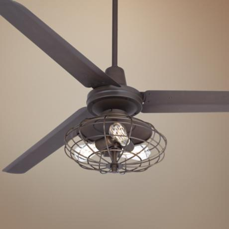 "60"" Turbina Industrial Oil-Rubbed Bronze Ceiling Fan"