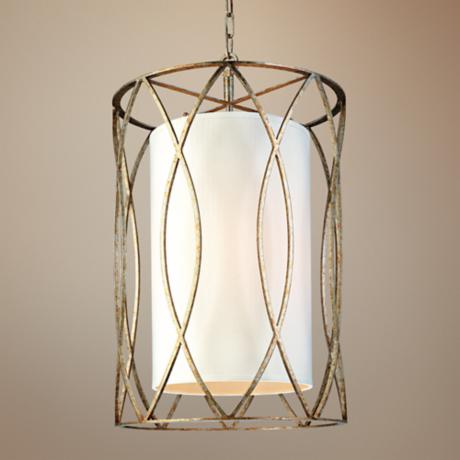 "Sausalito 28 1/4"" High 4-Light Silver Gold Pendant Light"