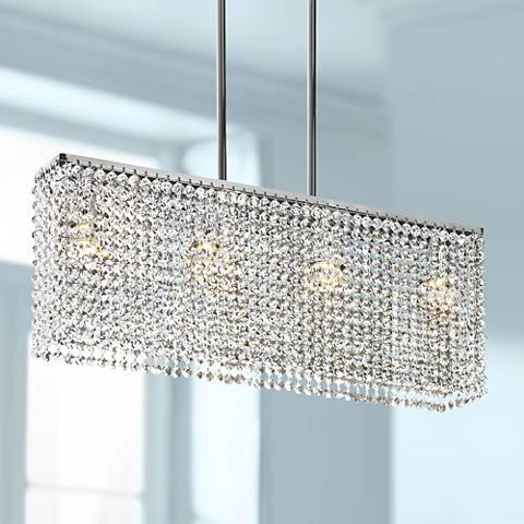"Clear Crystal Strands 24"" Wide Pendant Chandelier"
