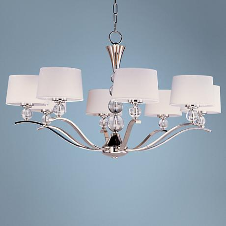 "Maxim Rondo Nickel Finish 38 3/4"" Wide 8-Light Chandelier"