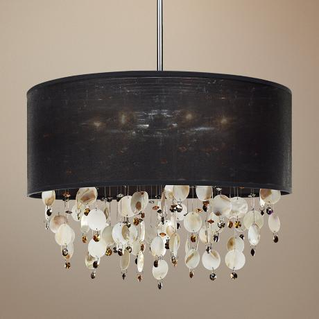 "Around Town Oyster and Topaz 21"" Wide Pendant Chandelier"