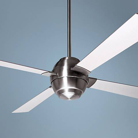 "56"" Modern Fan Company Gusto Bright Nickel Ceiling Fan"