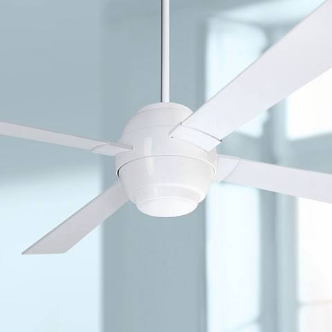 "56"" Modern Fan Company Gusto White Ceiling Fan"
