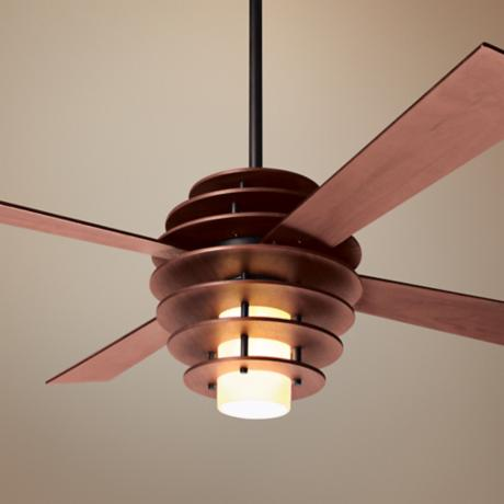 "42"" Modern Fan Stella Mahogany-Bronze Ceiling Fan with Light"