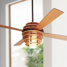 "42"" Modern Fan Stella Maple-Bronze Ceiling Fan with Light"