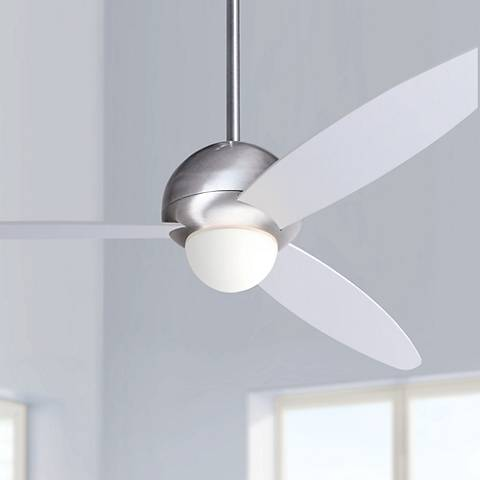 "52"" Modern Fan Plum Aluminum Finish Ceiling Fan with Light"