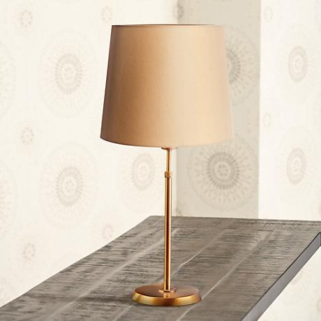 Holtkoetter Antique Brass Table Lamp with Kupfer Shade
