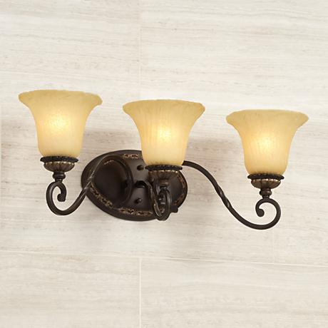 "San Marino Bronze and Gold 23 1/2"" Wide Bath Light"